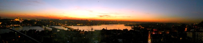 Panoramic view of the city from the Galata Tower.