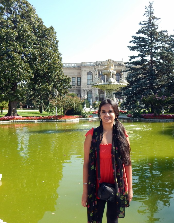 At the Dolmabahce Palace
